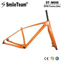 2018 Full Carbon MTB Bicycle Framesets T1000 Carbon Fiber Mountain Bike Frameset 142 12mm Thru Axle