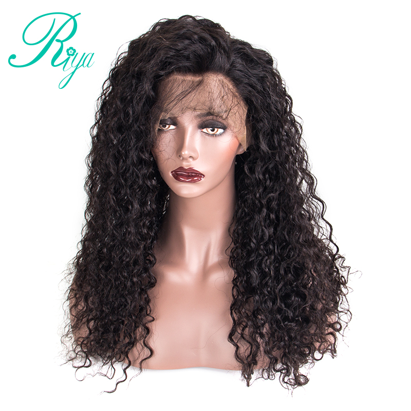 150% Density Full Lace Wig With Baby Hair Kinky Straight Brazilian Pre Plucked Human Hair Wigs For Black Women Riya Hair
