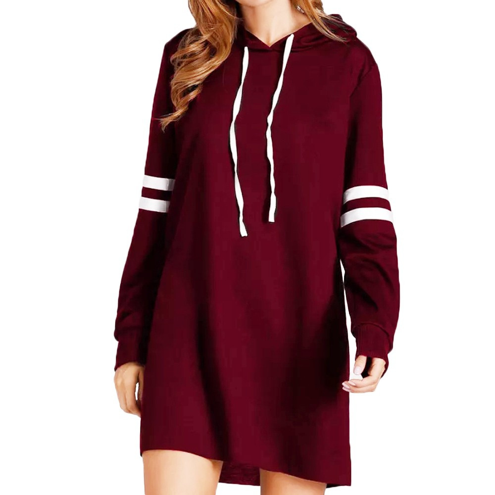 Women Hoodie Dresses Long Sweatshirt Pullover Sexy Dress Girl Purchasing Summer Casual  Party Fashion New Long Sleeve Clothes