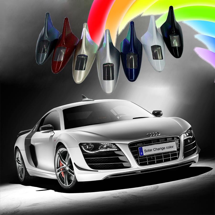 GEETANS 10 led jenis baru Auto Mobil Solar powered LED Flashing Shark - Lampu mobil - Foto 4