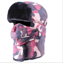 Winter Warm Earflap Bomber Hats Caps Scarf Men Women Russian Trapper Thermal Hat Trooper Snow Ski Cap with Fack Mask