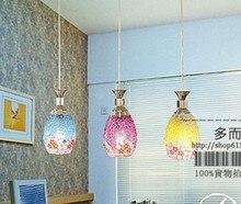 БЕСПЛАТНЫЕ SHIPPINGEMS подвесной светильник ресторан подвесной светильник мозаика ручной работы лампы освещения гостиной огни лестницы