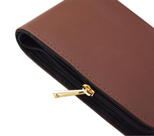 Quality Fountain Pen / Rollerball Pen Bag Pencil Case Available for 12 Pens - Coffee Leather Pen Holder / Pouch недорого