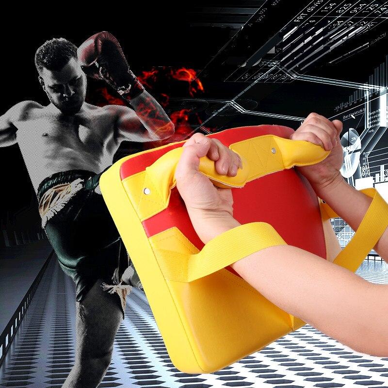 PU Leather Rectangle Strike Punching Kicking Pad Arm Shield Target Arc-shape Boxing Pad Karate Muay TKD Training Foot Target