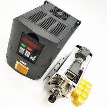 1.5kw luftgekühlten spindelmotor cnc spindelmotor + 110 V/220 V/1.5KW inverter + 1 satz er11 Platz fräsmaschine spindel
