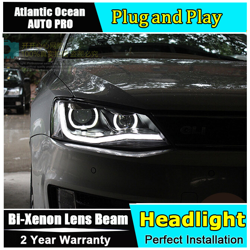 Auto Lighting Style Head Lamp for VW Jetta MK6 led headlights new Jetta headlight drl HID KIT LED Bi-Xenon Lens low beam auto part style led head lamp for benz w163 ml320 ml280 ml350 ml430 2002 2005 led headlights drl hid bi xenon lens low beam