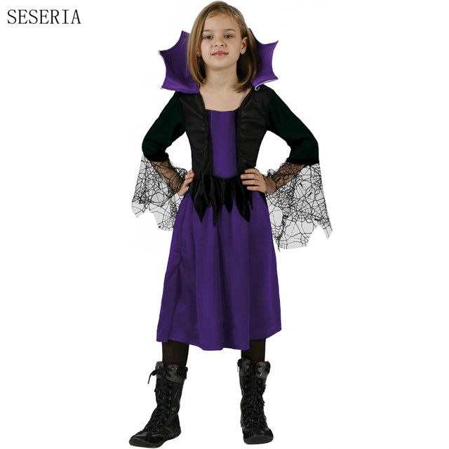 Seseria Para Purim Ninos Vampiro Trajes Halloween Para Ninas Vestido - Trajes-de-hallowen