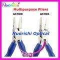 Envío libre de calidad superior de goma antideslizante mango de usos múltiples de los alicates de los alicates eyewear AC900 AC901