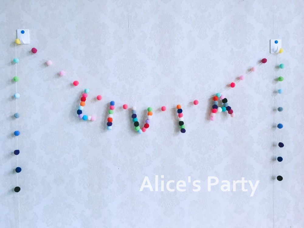 UP TO 5 LETTERS BOYS PERSONALISED BIRTHDAY PARTY BANNER BLUE AND SILVER BUNTING