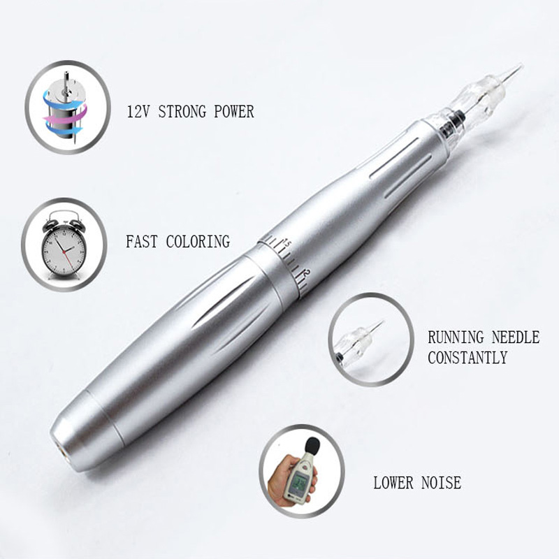 2019 Profissional Lábios Maquiagem Sobrancelha Permanente Da Composição Da Máquina Pen Cartucho 3 3D Microblade Tatoo Tatto Arma LW-002