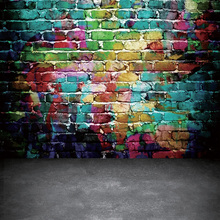 Цветной кирпичной стены фон для фотосъемки граффити стены фото фон для детской фотографии 5x7FT 9678