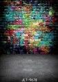 Fotografía telón de fondo de pared de ladrillo de Graffiti de Color foto de la pared de fondo Niños photography fondo 5x7FT 9678