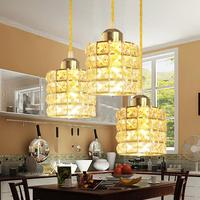 Led Crystal Gold Restaurant Chandelier Bar Dining Hall Lustre Pendente Led Lamp Modern Loft Style Chandelier Lighting