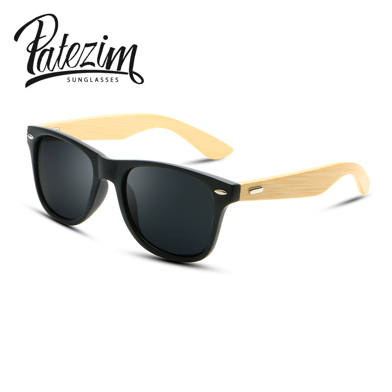 Patezim Fashionable bamboo Sunglasses for Men Women s SunGlasses Ladies  UV400 Driving Goggles gafas de sol mujer 0be2a66f90