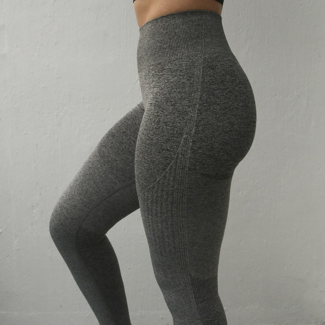 Nepoagym Women Ombre Seamless Leggings In TEAL High Waisted Yoga Pants Woman Sport Leggings Training Tights Gym Fitness Leggings 2
