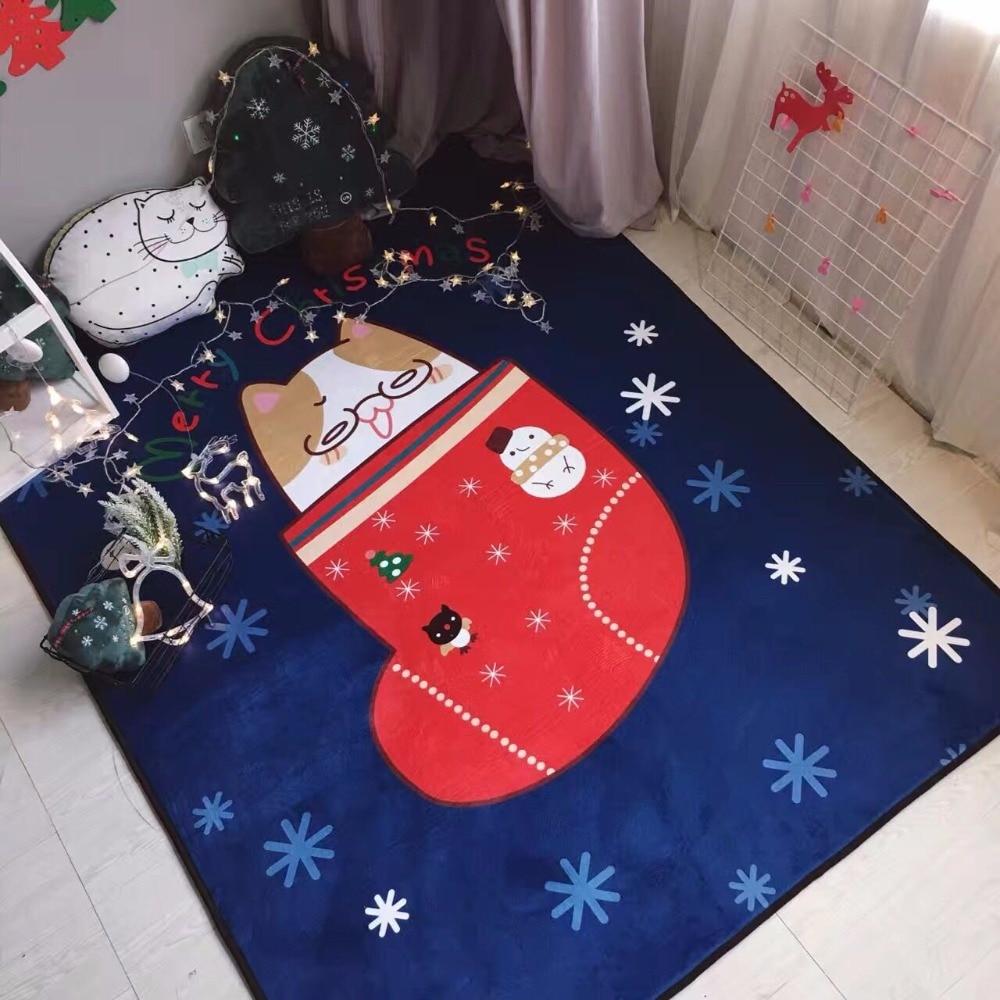 150x195cm christmas socks carpets for living room children bedroom