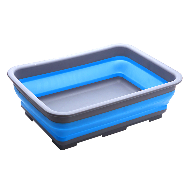 Foldable square washbasin cold and hot travel portable washbasin creative home home Japanese toilet Bathroom kitchen dishes.