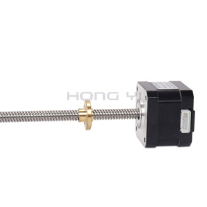 Image 4 - Free shipping  nema17 Screw 17HS3401S T8 L310 350MM Laser and 3D printer stepper motor Pitch with brass nut for CE ROSH ISO CNC
