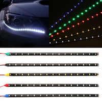 """1 stück 30cm Auto Flexible LED Streifen Licht High Power 12V 11,8 """"15SMD Wasserdichte LED Tagfahrlicht licht Dekorative Auto DRL"""