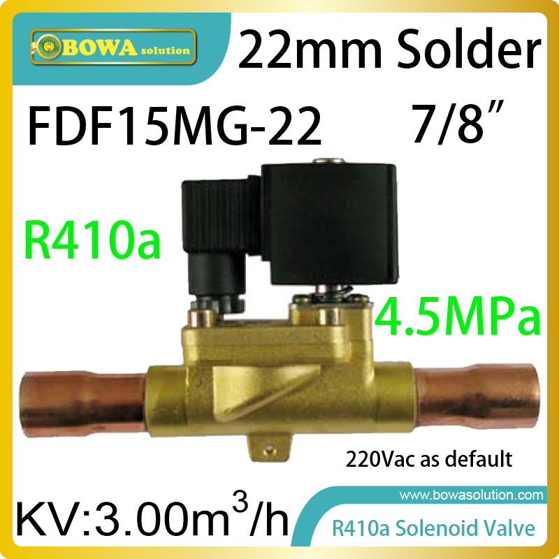 R410a refrigerant high-quality solenoid valves help control backflow in refrigerant plant or air conditioners systems цена и фото