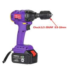 Brushless Cordless Electric Wrench Impact Driver Power Tool 198VF 24800mAh 480NM With household Electric Drill Adapter Converter(China)
