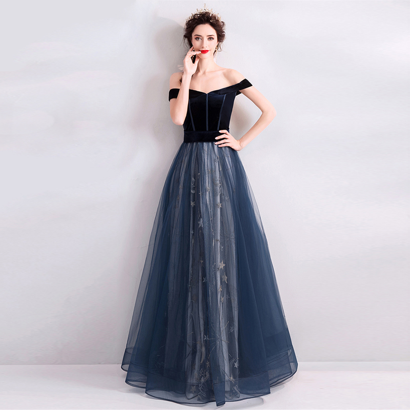 LPTUTTI Embroidery New For Women Elegant Date Ceremony Party Prom Gown Formal Gala Events Luxury Long   Evening     Dress