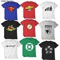 Футболка Sheldon Cooper с теорией большого взрыва  футболка для косплея супергероев  Зеленый Фонарь  вспышка  футболка для мужчин и женщин