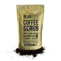 Hotselling BeanBody Manuka Honey Coffee Scrub Coconut Oil Remove dead skin Body Treatment for Rough Skin Stretch marks Cellulite