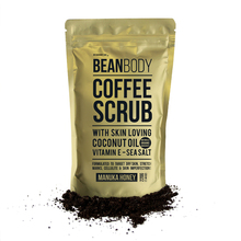 Hotselling BeanBody Manuka Honey Coffee Scrub Coconut Oil Remove dead skin Body Treatment for Rough skin Stretch marks Cellulite