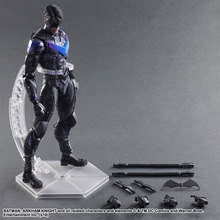 Anime Play Arts KAI Batman The Dark Knight Nightwing Robin Joint Moveable PVC Action Figure Collectible Model Toy 26cm