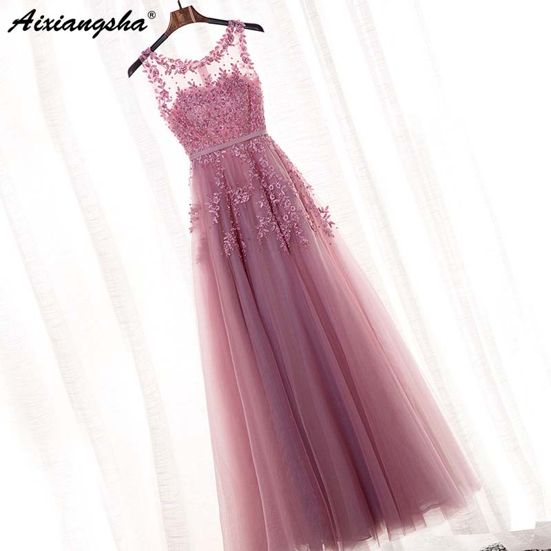 New Arrival 2019   Bridesmaid     Dress   Scoop Sleeveless Cheap Chiffon A Line Bridemaid   Dress   Floor Length vestidos de fiesta de noche