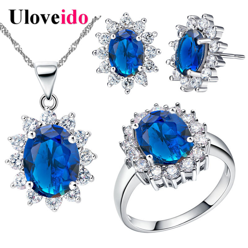 ... Bijuteria Flor Colar Brincos Anel de Prata Mulheres Traje Conjunto T466  em Conjuntos de jóias de Jóias   Acessórios no AliExpress.com  66192f70bb1