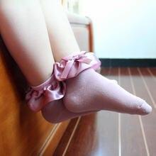 spring autumn period sock new children's cloth girl princess baby socks children socks dream silk lace short white socks-in Socks