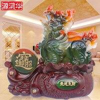 Reale di 2016 Yuan Honghua È Fare Soldi Ornamenti Coraggiosi Imitazione Giada Resina Artigianato Arredamento Per La Casa Decorazione Della Stanza Dell'ufficio