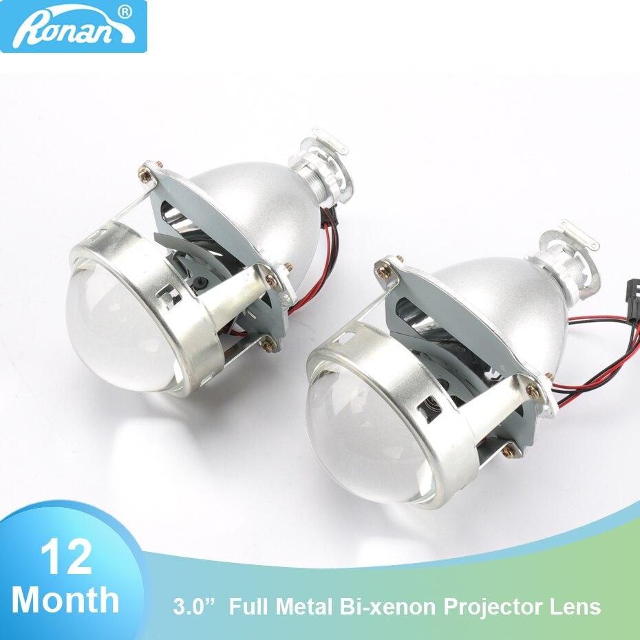 RONAN voiture style offre spéciale 1 paire support métallique amélioré 3.0 H1 Pro HID bi-xénon projecteur lentille H4 H7 phares utiliser H1 ampoule