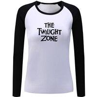 The Twilight Zone Letter Print Raglan Long Sleeve T Shirt Women Fitness Girl S Tshirt Spring