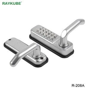 Image 3 - Блокировка двери RAYKUBE с паролем, цифровая механическая клавиатура с кодом, дверной замок без ключа, цинковый сплав, водонепроницаемый телефон