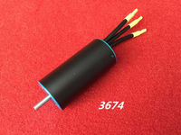 4 Magnetic Pole 3674 Brushless Motor Big Power With Water Cooling Jacket KV1600 1900 2200 2650