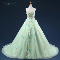 Fairy Romantic Off the Shoulder Light Green Real Evening Dresses Lace Up Woman Formal Prom Evening Party Dresses Long ASAE67