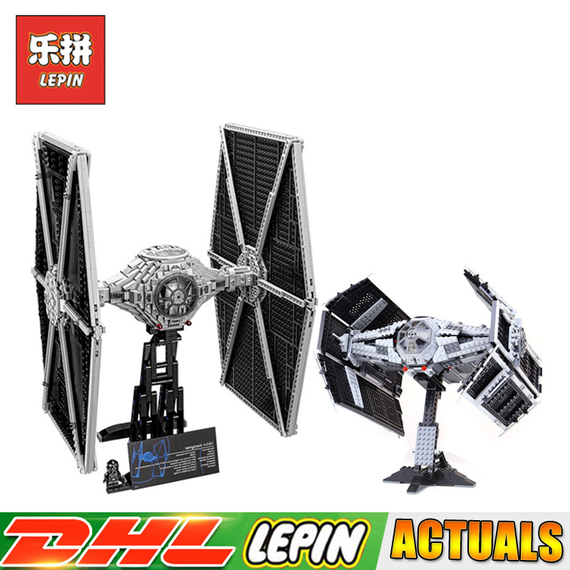 Lepin 05055 05036 Compatible LegoINGlys 10175 75095 Star Wars The Rogue USC Vader TIE Advanced Fighter Blocks Bricks Toys new 1685pcs lepin 05036 1685pcs star series tie building fighter educational blocks bricks toys compatible with 75095 wars