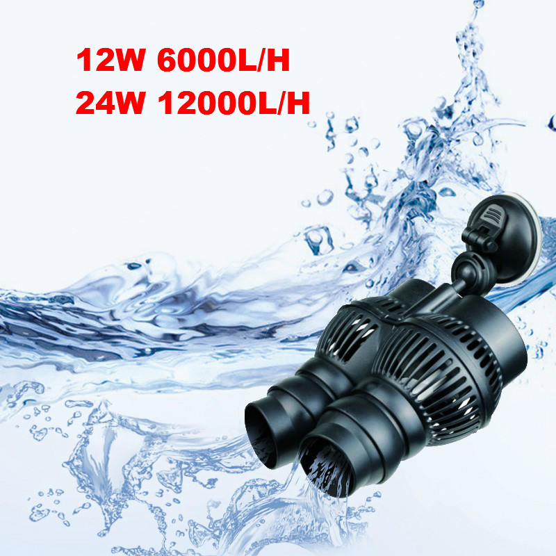 12/24w Aquarium Wavemaker Double Power Head <font><b>Water</b></font> Circulation <font><b>Pump</b></font> With Suction Cup Adjustable Direction Making <font><b>Water</b></font> Current image