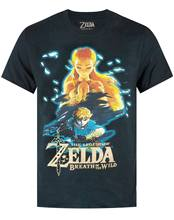 The Legend Of Zelda Breath Of The Wild Men's Black T shirt Summer Short Sleeves New Fashion T-Shirt(China)