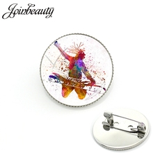 Brooch Pins Snowboarding Skiing Jewelry Gift Women JOINBEAUTY SG48 Skier Ski-Art Sports-Style