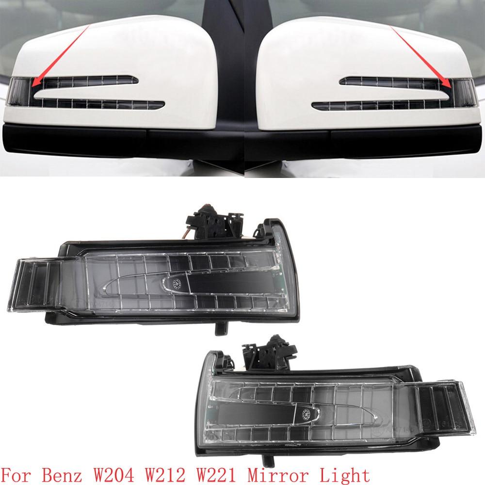 For Mercedes W204 W212 W221 LED Side Mirror Marker Turn Signal Indicator Blinker Lamp Light lens 2x white canbus led door courtesy footwell vanity mirror trunk lights for mercedes w204 w212 w207 w221 w216 r230 w251 w164 w463