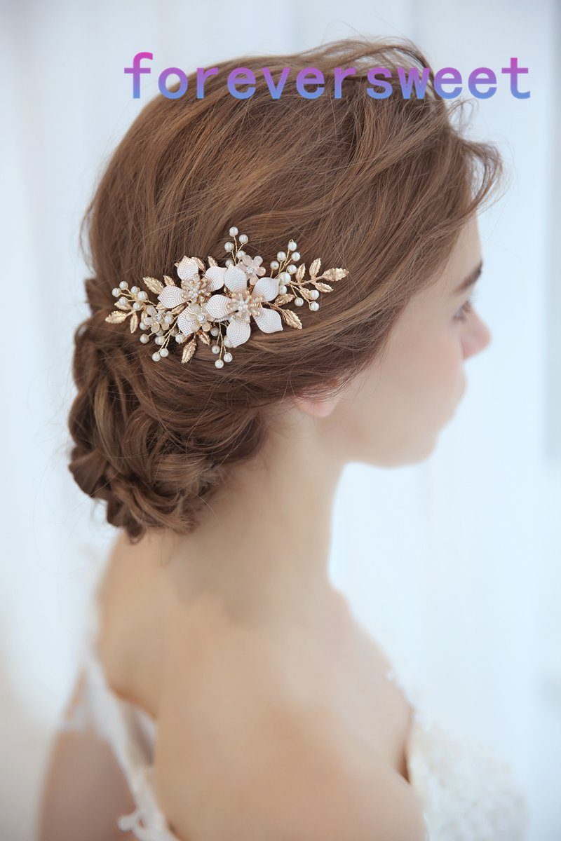 us $9.36 50% off|2018 beautiful pearl flower hair combs bridal hair combs hair decoration women wedding hair accessories-in hair jewelry from jewelry