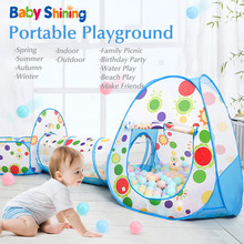 Baby Shining 3PCS Shooting Folding Portable Dry Ball Pool Children Playpen Toy Fence Baby Indoor/Outdoor Games Kids Room Tent(China)