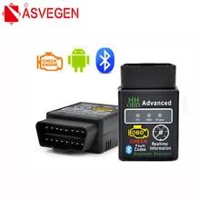 цена на Asvegen HH OBD ELM327 Bluetooth OBD2 OBDII CAN BUS Check Engine Car Auto Diagnostic Scanner Tool Interface Adapter Scan Tools