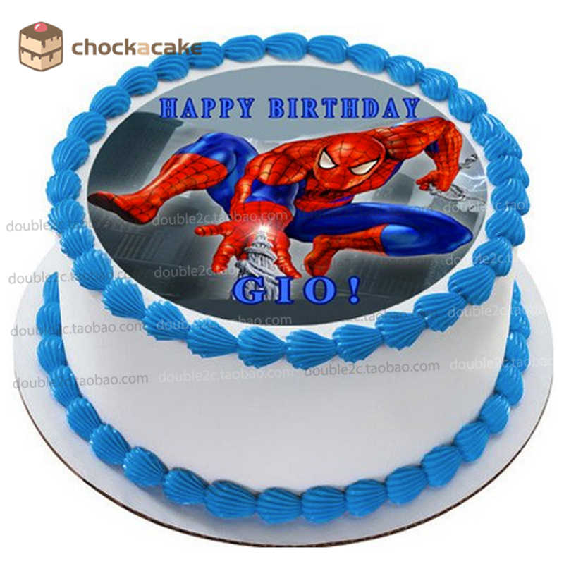 Astonishing Spider Man Birthday Cake Topper For Baby Boy Wafer Paper For Cake Funny Birthday Cards Online Alyptdamsfinfo