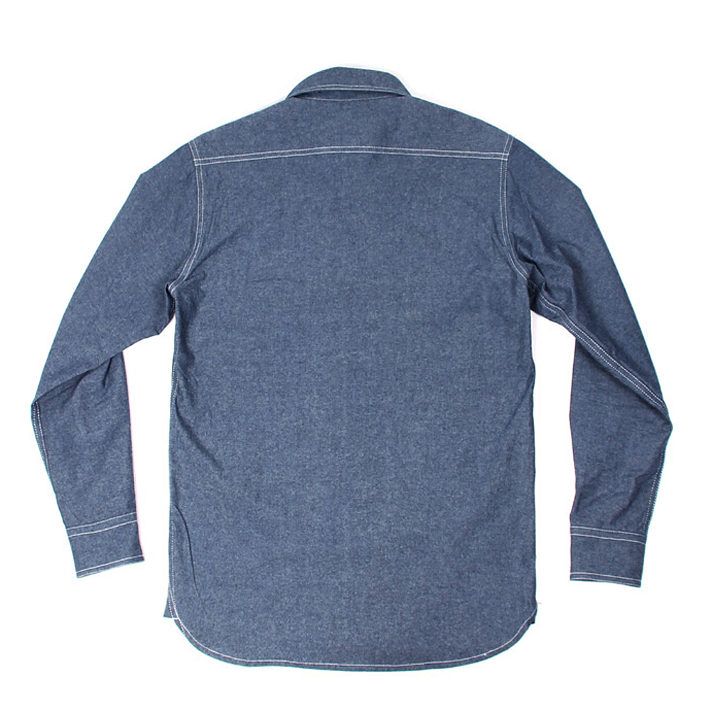 Image 3 - WW2 Reproduction Vintage bleu marine Denim Chambray chemise de travail hommes Fatigue utilitaireCasual Shirts