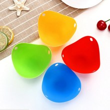Colorful Egg Tray Silicone Kitchen Utensils High Temperature Resistance Steamer Creative  Practical